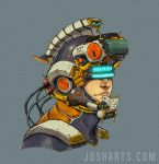 The space trojan Helmet by Dogsfather
