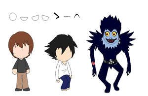 TBA BMNC Death Note Sprites by bloomacnchez