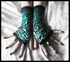 Lucid Dreams Fingerless Gloves by ZenAndCoffee