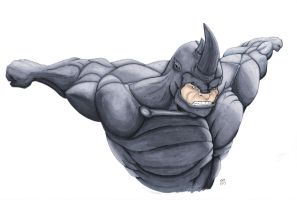 Rhino (better scan) by stuponitron