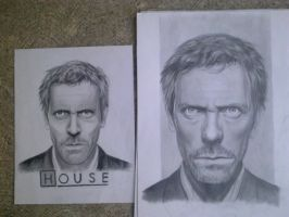 RETRATO A LAPIZ DE DR HOUSE by H3cT0r-Dibujos