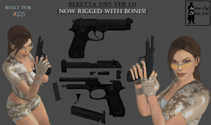 Beretta 92FS Ver1.0 for XNALara (Release) by andrewong1980