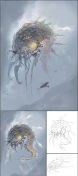 Creature Forge 55 Sky Crawler 20120424 WIP by cyl1981