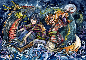 The Dragon Express by Si3art