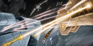 Space Battle by Wittman80
