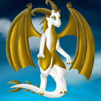 White Dragon by TwilightTheEevee
