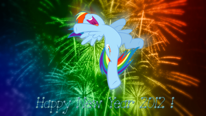 Rainbow Dash Happy New Year 2012 by BlueDragonHans