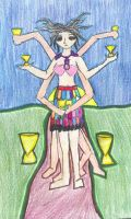 The Eight of cups by LadyRavenSkye