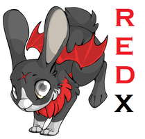 Red X the bunny by Tespeon
