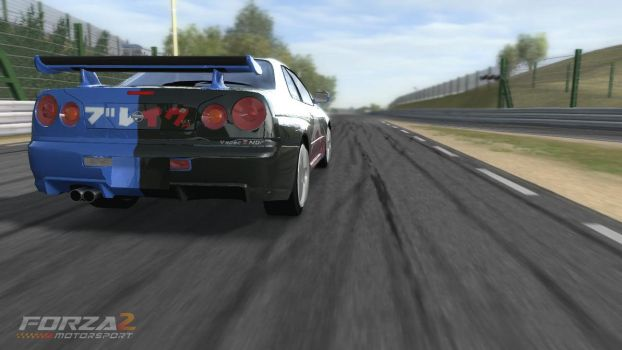 Forza Fuji car: Back View by saved2play