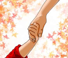 Holding hands by mykie-t