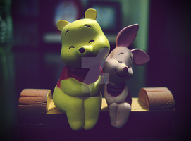Pooh and Piglet by MissRandumb