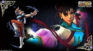 Chun Li Super SF IV Wallpaper by fightersnetwork