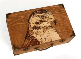 Red Tail Hawk -pyrography by lost-nomad07