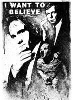 Fox Mulder Xfiles by Tom Kelly by TomKellyART