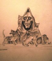 Death and Kittens by PowermadMistress