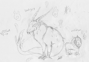 Sketches for Snowflame132's contest #1 by Dominoluv