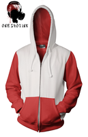 Red And White Hoodie by karatealive