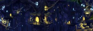 Treehouse Village by aragornbird