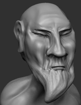Wise Old Shaolin Monk Person by 3as3oos