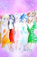 Sailor Moon - inner senshis by zelldinchit