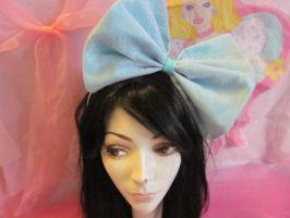 Sweet Lolita Blue and Pink Sparkle Bow by Mickeybabz