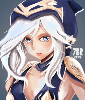Ashe - League of Legends by 7eslieblackrock