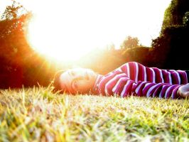 lying in the sun by RachelReznor-stock