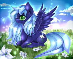 commission: orchird fields by AquaGalaxy