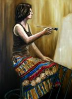 A Painting Girl by Sheloize