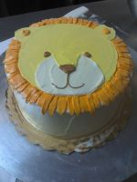 Baby's Lion Cake by eckabeck