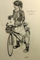 Anathema Device with her not yet broken bicycle by cojsztheduck