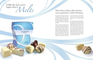Godiva package and article by mandichan