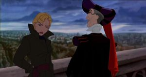 Disney crossover, Frollo and Helga by SirLordAshram