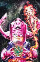 Galactus and Nova by AgnesGarbowska