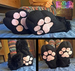 Black Fursuit Sockpaws by TECHNlCOLOUR