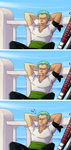 Wake up, Zoro! by Deroko