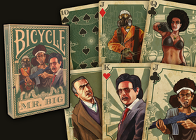 Custom Bicycle Playing Card Deck by megapowerskills