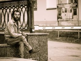 Homeless Man by Sulde