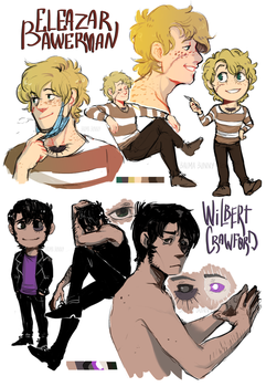 OCs sketches - Eleazar and Wil by Balma-Bunny