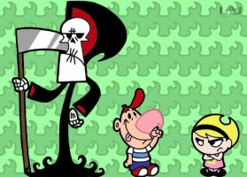 Grim, Billy, and Mandy by Red-Flare