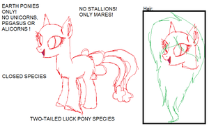 Two-Tailed Luck Pony Species (( CLOSED SPECIES )) by d-ubsteq