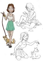 Girl and her Dog by AriellaMay