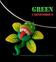 Green Carnivorous Necklace by pongojam