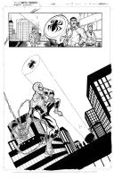 Superior Spiderman practice page one inks by JoeyVazquez