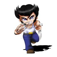 Logan - Wolverine Chibi by ExoroDesigns
