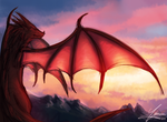 The red Wyvern by SHINXxPOOCHYENA