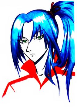 Blue haired guy by deathcard812
