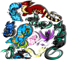 .:Mixed Collab Adopts--(5 STILL OPEN):. by FlamesVoices