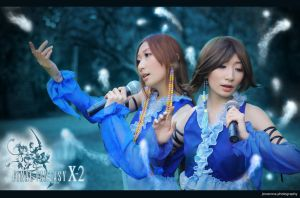 FFX-2 Lenne x Yuna  both cosplay by Loki by jiocosplay